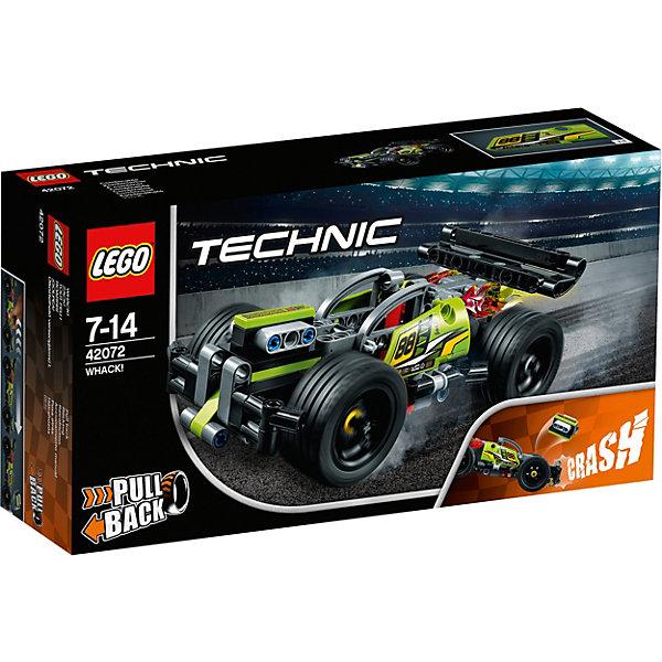LEGO Конструктор LEGO Technic 42072: Зеленый гоночный автомобиль lego duplo конструктор гоночный автомобиль 10589