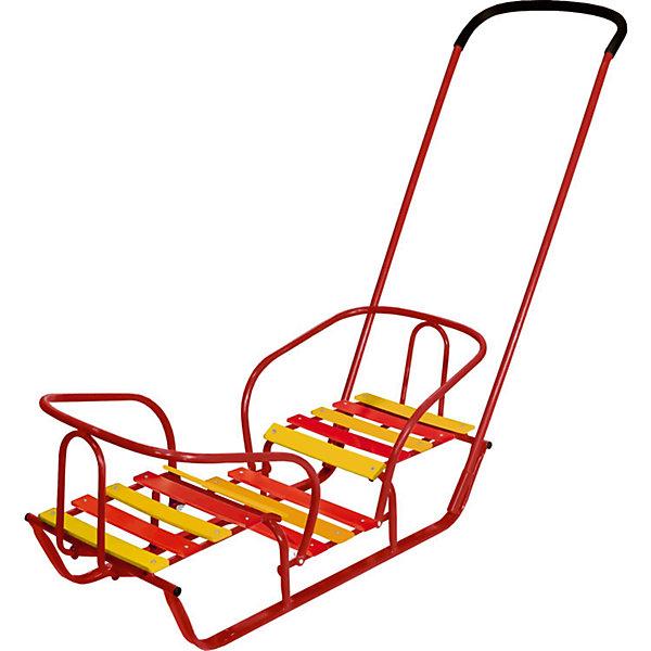 Nika-Kids Санки для двойни Nika-Kids Санки-двойняшки, красные муфта на санки коляски nika