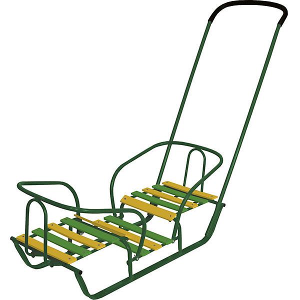 Nika-Kids Санки для двойни Nika-Kids Санки-двойняшки, зеленые муфта на санки коляски nika