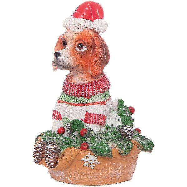 Magic Time Декоративная фигурка Собака с ёлочкой, 11 см