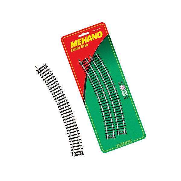 Mehano Радиальные рельсы для железной дороги Mehano, 4 шт 30˚ игрушка mehano 2 f102 набор рельс