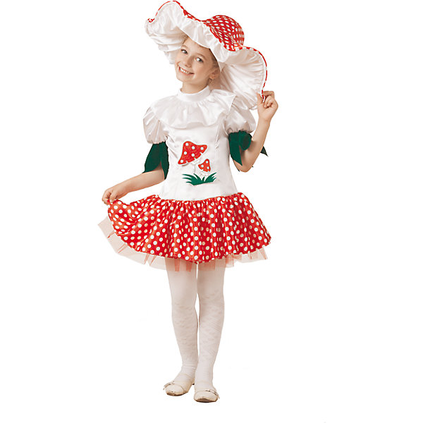 Батик Карнавальный костюм Грибок-девочка