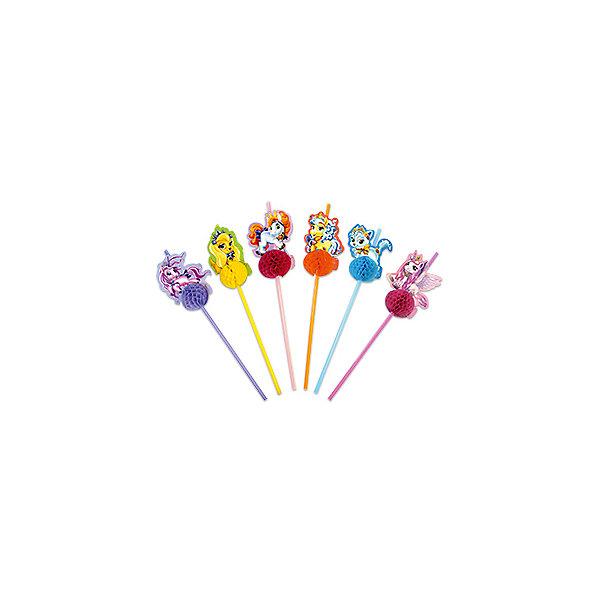 Патибум Трубочки для коктейля Патибум Волшебные питомцы 6 шт. трубочки для коктейлей фарт с изгибом гофрированные 260 х 6 мм 80 шт