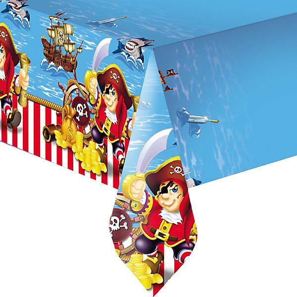 Скатерть Патибум Весёлый пират полиэтиленовая, 140х180 см.Пиратская вечеринка<br>Характеристики:<br><br>• возраст: от 3 лет;<br>• тип игрушки: скатерть;<br>• количество: 1 шт;<br>• цвет: голубой;<br>• вес: 86 гр;<br>• размеры: 0,5х22х28,5 см;<br>• материал: полиэстер;<br>• бренд: Патибум;<br>• страна производитель: Россия.<br><br>Скатерть полиэтиленовая «Веселый Пират»  подойдет для организации детской вечеринки, дня рождения и других праздников. Скатерть выполнена из полиэстера и имеет размер 140х180см. Данная скатерть входит в состав коллекции праздничной одноразовой посуды «Веселый Пират» и лучше всего использовать ее для сервировки праздничного стола вместе с другими элементами из этой коллекции (тарелочки, стаканчики и карнавальные аксессуары коллекции).<br><br>Изделие выполнено из качественных материалов, предназначенных для детей возрастом от трех лет. Такая скатерть станет отличным дополнением праздничного настроения. <br><br>Скатерть полиэтиленовая «Веселый Пират»  можно купить в нашем интернет-магазине.<br>Ширина мм: 5; Глубина мм: 220; Высота мм: 285; Вес г: 86; Возраст от месяцев: 36; Возраст до месяцев: 2147483647; Пол: Мужской; Возраст: Детский; SKU: 7224669;