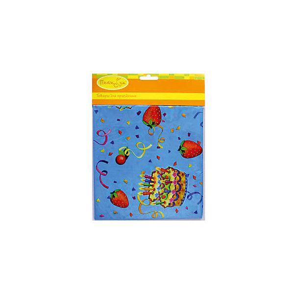 Патибум Скатерть Праздничный торт полиэтиленовая, 140х180 см.