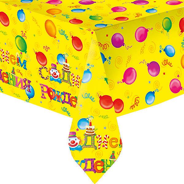 Скатерть Патибум С днём рождения полиэтиленовая, 140х180 см.Салфетки и скатерти<br>Характеристики:<br><br>• возраст: от 3 лет;<br>• тип игрушки: скатерть;<br>• количество: 1 шт;<br>• цвет: желтый;<br>• вес: 83 гр;<br>• размеры: 0,5х22х28,5 см;<br>• материал: полиэтилен;<br>• бренд: Патибум;<br>• страна производитель: Россия.<br><br>Скатерть полиэтиленовая «С Днем Рождения. Русская версия»  подойдет для организации детской вечеринки, дня рождения и других праздников. Скатерть выполнена из полиэтилена и имеет размер 140х180см. Данная скатерть входит в состав коллекции праздничной одноразовой посуды «С Днем Рождения. Русская версия» и лучше всего использовать ее для сервировки праздничного стола вместе с другими элементами из этой коллекции (тарелочки, стаканчики и карнавальные аксессуары коллекции).<br><br>Изделие выполнено из качественных материалов, предназначенных для детей возрастом от трех лет. Такая скатерть станет отличным дополнением праздничного настроения. Такая расцветка понравится и мальчикам, и девочкам.<br><br>Скатерть полиэтиленовая «С Днем Рождения. Русская версия»  можно купить в нашем интернет-магазине.<br>Ширина мм: 5; Глубина мм: 220; Высота мм: 285; Вес г: 79; Возраст от месяцев: 36; Возраст до месяцев: 2147483647; Пол: Унисекс; Возраст: Детский; SKU: 7224676;