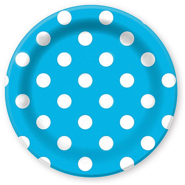 Тарелки Патибум Горошек голубой 23 см. ламинированные, 6 шт.Тарелки<br>Характеристики:<br><br>• возраст: от 3 лет;<br>• тип игрушки: тарелки;<br>• количество: 6 шт;<br>• размер тарелки: 23 см;<br>• цвет: голубой;<br>• вес: 91  гр;<br>• размеры: 0,5х25х32 см;<br>• материал: бумага;<br>• бренд: Патибум;<br>• страна производитель: Россия.<br><br>Тарелки бумажные ламинированные «Горошек Голубой» 6шт подойдут для организации детской вечеринки, дня рождения и других праздников. Тарелки выполнены из бумаги и имеют размер 23 см. Одноразовая посуда ламинирована для большей прочности. Они имеют расцветку в крупный горошек. Данные тарелки входят в состав коллекции праздничной одноразовой посуды «Горошек Голубой» и лучше всего их использовать для сервировки праздничного стола вместе с другими элементами из этой коллекции.<br><br>Изделия выполнены из качественных материалов, предназначенных для детей возрастом от трех лет. Такая посуда в виде тарелочек станет отличным дополнением праздничного настроения. А эта  расцветка понравится и мальчикам, и девочкам.<br> <br>Тарелки бумажные ламинированные «Горошек Голубой» 6шт можно купить в нашем интернет-магазине.