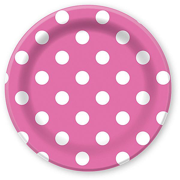 Тарелки Патибум Горошек розовый 23 см. ламинированные, 6 шт.Тарелки<br>Характеристики:<br><br>• возраст: от 3 лет;<br>• тип игрушки: тарелки;<br>• количество: 6 шт;<br>• размер тарелки: 23 см;<br>• цвет: розовый;<br>• вес: 91  гр;<br>• размеры: 0,5х25х32 см;<br>• материал: бумага;<br>• бренд: Патибум;<br>• страна производитель: Россия.<br><br>Тарелки бумажные ламинированные «Горошек Розовый» 6шт подойдут для организации детской вечеринки, дня рождения и других праздников. Тарелки выполнены из бумаги и имеют размер 23 см. Одноразовая посуда ламинирована для большей прочности. Они имеют расцветку в крупный горошек. Данные тарелки входят в состав коллекции праздничной одноразовой посуды «Горошек Розовый» и лучше всего их использовать для сервировки праздничного стола вместе с другими элементами из этой коллекции.<br><br>Изделия выполнены из качественных материалов, предназначенных для детей возрастом от трех лет. Такая посуда в виде тарелочек станет отличным дополнением праздничного настроения. А эта  расцветка понравится и мальчикам, и девочкам.<br> <br>Тарелки бумажные ламинированные «Горошек Розовый» 6шт можно купить в нашем интернет-магазине.<br>Ширина мм: 5; Глубина мм: 250; Высота мм: 320; Вес г: 91; Возраст от месяцев: 36; Возраст до месяцев: 2147483647; Пол: Унисекс; Возраст: Детский; SKU: 7224688;