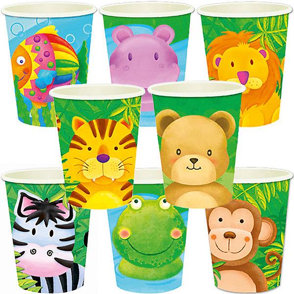 Стаканы бумажные Забавные зверята 250 мл, 8штСтаканы<br>Характеристики:<br><br>• возраст: от 3 лет;<br>• тип игрушки: стаканы;<br>• количество: 8 шт;<br>• объем: 250 мл;<br>• вес: 48 гр;<br>• размеры: 7,5х13х24,5 см;<br>• материал: бумага;<br>• бренд: Патибум;<br>• страна производитель: Россия.<br><br>Стаканы бумажные «Забавные зверята» 6шт подойдут для организации детской вечеринки, дня рождения и других праздников. Стаканы выполнены из бумаги и имеют объем 200 мл. На них изображены яркие картинки. Данные стаканы входят в состав коллекции праздничной одноразовой посуды «Забавные зверята» и лучше всего их использовать для сервировки праздничного стола вместе с другими элементами из этой коллекции (тарелочки, скатерть и карнавальные аксессуары коллекции). <br><br>Изделия выполнены из качественных материалов, предназначенных для детей возрастом от трех лет. Такая посуда в виде стаканчиков станет отличным дополнением праздничного настроения. А эта  расцветка понравится и мальчикам, и девочкам. <br><br>Стаканы бумажные «Забавные зверята» 6шт можно купить в нашем интернет-магазине.<br>Ширина мм: 75; Глубина мм: 130; Высота мм: 245; Вес г: 48; Возраст от месяцев: 36; Возраст до месяцев: 2147483647; Пол: Унисекс; Возраст: Детский; SKU: 7224697;