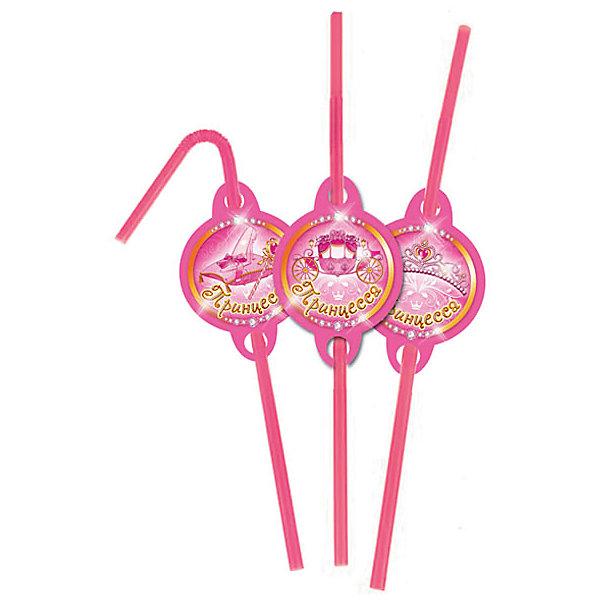 """Патибум Трубочки для коктейля Патибум """"Моя принцесса"""" 6 шт."""