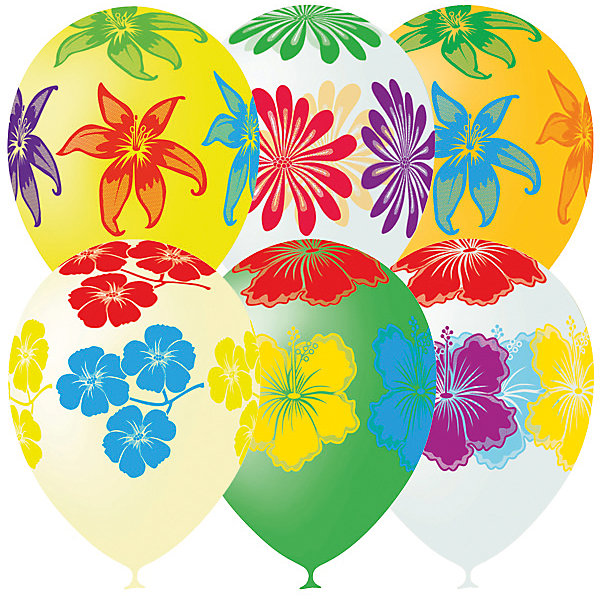Latex Occidental Воздушные шары   Цветущий сад, 25 шт., декоратор (шёлк)