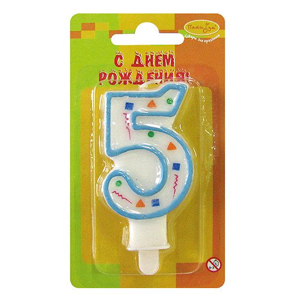 Свеча для торта Патибум Цифра 5 7 см., голубое конфеттиДетские свечи для торта<br>Характеристики:<br><br>• возраст: от 3 лет;<br>• тип игрушки: свеча;<br>• вес: 22 гр;<br>• размеры: 1,5х7х13 см;<br>• материал: парафин;<br>• бренд: Патибум; <br>• страна производитель: Россия.<br><br>MC Свеча Цифра 5 «Голубое Конфетти» 7см - это оригинальная фигурка-свечка для торта, выполняющая декоративную функцию.  Оригинальные свечи в форме цифры «3» хорошо использовать для украшения праздничного стола, также ими можно украсить торт или десерт на День рождения. Свечи для торта отличаются высоким качеством, они не вредны для детей от трех  лет и, конечно же, их можно использовать с продуктами. Температура хранения и транспортировки от -10 до +25С. <br><br>Вместе с этой свечкой из натурального парафина можно использовать и другие из этой серии. Высота украшения для торта составляет 7 см. Она легко устанавливается в торт и вынимается. Свеча входит в коллекцию свечей «голубое конфетти».  <br><br>MC Свечу Цифра 5 «Голубое Конфетти» 7см можно купить в нашем интернет-магазине.<br>Ширина мм: 15; Глубина мм: 70; Высота мм: 130; Вес г: 22; Возраст от месяцев: 36; Возраст до месяцев: 2147483647; Пол: Унисекс; Возраст: Детский; SKU: 7224785;