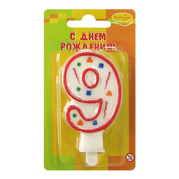 Свеча для торта Патибум Цифра 9 7 см., красное конфеттиДетские свечи для торта<br>Характеристики:<br><br>• возраст: от 3 лет;<br>• тип игрушки: свеча;<br>• вес: 22 гр;<br>• размеры: 1,5х7х13 см;<br>• материал: парафин;<br>• бренд: Патибум; <br>• страна производитель: Россия.<br><br>MC Свеча Цифра 9 «Красное Конфетти» 7см - это оригинальная фигурка-свечка для торта, выполняющая декоративную функцию.  Оригинальные свечи в форме цифры «3» хорошо использовать для украшения праздничного стола, также ими можно украсить торт или десерт на День рождения. Свечи для торта отличаются высоким качеством, они не вредны для детей от трех  лет и, конечно же, их можно использовать с продуктами. Температура хранения и транспортировки от -10 до +25С. <br><br>Вместе с этой свечкой из натурального парафина можно использовать и другие из этой серии. Высота украшения для торта составляет 7 см. Она легко устанавливается в торт и вынимается. Свеча входит в коллекцию свечей «красное конфетти».  <br><br>MC Свечу Цифра 9 «Красное Конфетти» 7см можно купить в нашем интернет-магазине.<br>Ширина мм: 15; Глубина мм: 70; Высота мм: 130; Вес г: 22; Возраст от месяцев: 36; Возраст до месяцев: 2147483647; Пол: Унисекс; Возраст: Детский; SKU: 7224794;