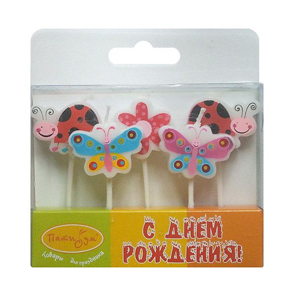 Свечи для торта Патибум Божьи коровки 7 см., 5 шт.Детские свечи для торта<br>Характеристики:<br><br>• возраст: от 3 лет;<br>• тип игрушки: свеча;<br>• вес: 21 гр;<br>• количество: 5 шт;<br>• размеры: 1,5х20х5,5 см;<br>• материал: парафин;<br>• бренд: Патибум; <br>• страна производитель: Россия.<br><br>MC Свечи «Бабочки, Божьи коровки» 5шт 7см-  это свечки для торта, выполняющие декоративную функцию.  Оригинальные свечи в виде бабочек и божьих коровок хорошо использовать для украшения праздничного стола, также ими можно украсить торт или десерт на День рождения. Свечи для торта отличаются высоким качеством, они не вредны для детей от трех  лет и, конечно же, их можно использовать с продуктами. Температура хранения и транспортировки от -10 до +25С. <br><br>Вместе с этой свечкой из натурального парафина можно использовать и другие из этой серии. Этот набор свечек из 5 штук с держателями. Они легко устанавливаются в торт и вынимаются. Красивые свечки станут отличным дополнением праздника.<br><br>MC Свечи «Бабочки, Божьи коровки» 5шт 7см можно купить в нашем интернет-магазине.<br>Ширина мм: 15; Глубина мм: 55; Высота мм: 120; Вес г: 21; Возраст от месяцев: 36; Возраст до месяцев: 2147483647; Пол: Унисекс; Возраст: Детский; SKU: 7224800;