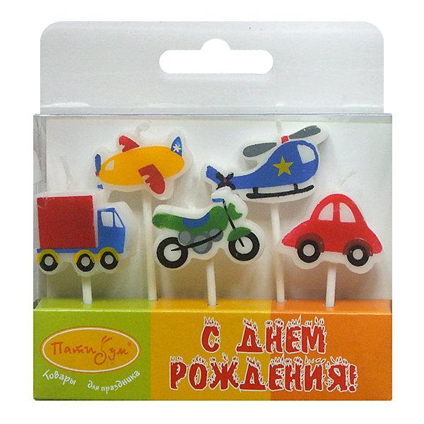 Свечи для торта Патибум Машинки 7 см., 5 шт.Детские свечи для торта<br>Характеристики:<br><br>• возраст: от 3 лет;<br>• тип игрушки: свеча;<br>• вес: 26 гр;<br>• количество: 5шт;<br>• размеры: 2х10х10 см;<br>• материал: парафин;<br>• бренд: Патибум; <br>• страна производитель: Россия.<br><br>MC Свечи «Машинки» 5шт 7см -  это свечки для торта, выполняющие декоративную функцию.  Оригинальные свечи в виде машинок хорошо использовать для украшения праздничного стола, также ими можно украсить торт или десерт на День рождения. Свечи для торта отличаются высоким качеством, они не вредны для детей от трех  лет и, конечно же, их можно использовать с продуктами. Температура хранения и транспортировки от -10 до +25С. <br><br>Вместе с этой свечкой из натурального парафина можно использовать и другие из этой серии. Этот набор свечек из 5 штук с держателями. Они легко устанавливаются в торт и вынимаются. Красивые свечки станут отличным дополнением праздника особенно для мальчиков. <br> <br>MC Свечи «Машинки» 5шт 7см можно купить в нашем интернет-магазине.<br>Ширина мм: 20; Глубина мм: 100; Высота мм: 100; Вес г: 26; Возраст от месяцев: 36; Возраст до месяцев: 2147483647; Пол: Мужской; Возраст: Детский; SKU: 7224805;