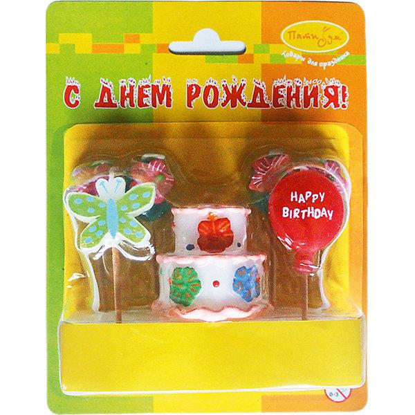Свечи для торта Патибум Праздничный торт 7 шт.День рождения Феи<br>Характеристики:<br><br>• возраст: от 3 лет;<br>• тип игрушки: свеча;<br>• вес: 49 гр;<br>• количество: 7 шт;<br>• размеры: 4х12,5х16 см;<br>• материал: парафин;<br>• бренд: Патибум; <br>• страна производитель: Россия.<br><br>MC Свечи «Праздничный торт» 7шт -  это свечки для торта, выполняющие декоративную функцию.  Оригинальные свечи  хорошо использовать для украшения праздничного стола, также ими можно украсить торт или десерт на День рождения. Такие свечи для торта не тяжелые по весу и благодаря шпажкам они идеально подходят для украшения торта или десерта со взбитыми сливками. Свечи для торта отличаются высоким качеством, они не вредны для детей от трех  лет и, конечно же, их можно использовать с продуктами. Температура хранения и транспортировки от -10 до +25С. <br><br>Вместе с этой свечкой из натурального парафина можно использовать и другие из этой серии. Этот набор свечек из 7 штук с держателями. Они легко устанавливаются в торт и вынимаются. Красивые свечки станут отличным дополнением праздника.<br><br>MC Свечи «Праздничный торт» 7шт можно купить в нашем интернет-магазине.<br>Ширина мм: 40; Глубина мм: 125; Высота мм: 160; Вес г: 49; Возраст от месяцев: 36; Возраст до месяцев: 2147483647; Пол: Унисекс; Возраст: Детский; SKU: 7224811;