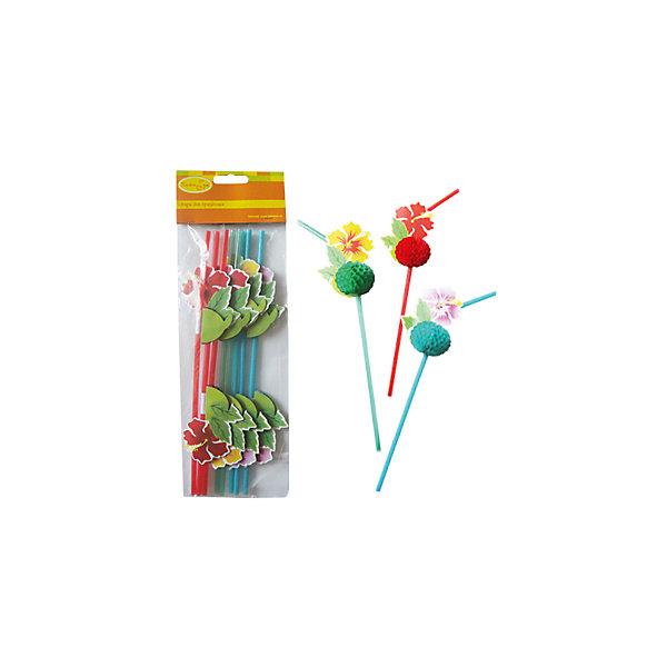 """Патибум Трубочки для коктейля Патибум """"Цветы Гаваи"""" 8 шт."""
