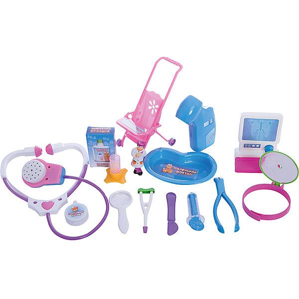 ABtoys Игровой набор Abtoys Маленький доктор, 16 предметов ролевые игры игруша игровой набор доктор i 1151275