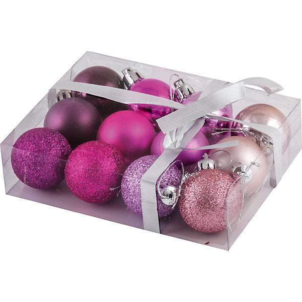 Набор елочных шаров Magic Land Фуксия 12 шт, 4 смЁлочные игрушки<br>Характеристики товара:<br><br>• в комплекте: 12 шаров;<br>• диаметр шара: 4 см;<br>• возраст: от 3 лет;<br>• материал: пластик;<br>• размер упаковки: 4х11,5х15 см;<br>• вес: 81 грамм.<br><br>Набор «Фуксия» состоит из двенадцати ярких новогодних шариков. Шарики выполнены в четырех цветах с разными поверхностями: матовая, блестящая, глянцевая. Игрушки изготовлены из пластика, что обеспечивает безопасность при использовании детьми. Набор «Фуксия» поможет создать праздник и внесет уют в атмосферу дома. Диаметр шара - 4 сантиметра.<br><br>Набор шаров «Фуксия», 12 шт., 4 см, Волшебная страна можно купить в нашем интернет-магазине.<br>Ширина мм: 150; Глубина мм: 115; Высота мм: 40; Вес г: 81; Возраст от месяцев: 36; Возраст до месяцев: 2147483647; Пол: Унисекс; Возраст: Детский; SKU: 7225233;