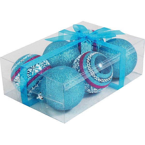 Волшебная Страна Набор елочных шаров Magic Land 6 шт, 6 см (синие) волшебная страна набор елочных шаров magic land 6 шт 6 см розовые