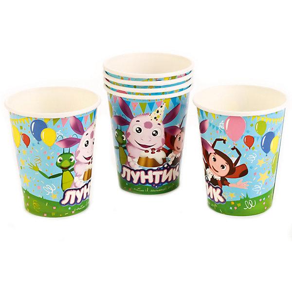 Набор из 6-ти стаканчиков дизайн ЛунтикСтаканы<br>Характеристики товара:<br><br>• возраст: от 3 лет;<br>• упаковка: пакет;<br>• размер упаковки: 20х12х8 см.;<br>• количество стаканов: 6 шт.;<br>• емкость стакана: 150 мл.;<br>• цвет: белый с рисунком;<br>• состав: картон;<br>• бренд, страна-производитель: Веселый праздник, Россия.<br><br>Стаканы картонные «Лунтик» - этот детский набор из 6 стаканов с изображением мультяшных героев Лунтика и его друзей сделает  торжество Вашего ребенка еще интересней, увлекательней и веселей. Детям очень важна атмосфера во время праздника, в том числе и оформление.<br><br>Стаканы от российского бренда «Веселый праздник» , который производит качественные товары для детского праздника, изготовлены из безопасного прочного картона, безвредного для детского здоровья. Подходят для холодных и горячих напитков.<br><br>Стаканы картонные «Лунтик», 150 мл., 6 шт.,  Веселый праздник можно купить в нашем интернет-магазине.<br>Ширина мм: 20; Глубина мм: 8; Высота мм: 12; Вес г: 50; Возраст от месяцев: 36; Возраст до месяцев: 168; Пол: Унисекс; Возраст: Детский; SKU: 7225698;