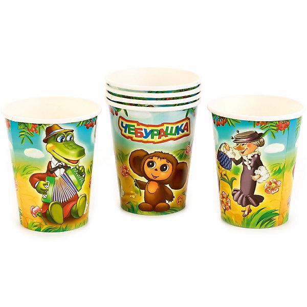 Набор из 6-ти стаканчиков дизайн ЧебурашкаСтаканы<br>Характеристики товара:<br><br>• возраст: от 3 лет;<br>• упаковка: пакет;<br>• размер упаковки: 20х12х8 см.;<br>• количество стаканов: 6 шт.;<br>• емкость стакана: 150 мл.;<br>• цвет: белый с рисунком;<br>• состав: картон;<br>• бренд, страна-производитель: Веселый праздник, Россия.<br><br>Стаканы картонные «Чебурашка» - этот детский набор из 6 стаканов с изображением мультяшных героев Чебурашки и его друзей сделает  торжество Вашего ребенка еще интересней, увлекательней и веселей. Детям очень важна атмосфера во время праздника, в том числе и оформление.<br><br>Стаканы от российского бренда «Веселый праздник» , который производит качественные товары для детского праздника, изготовлены из безопасного прочного картона, безвредного для детского здоровья. Подходят для холодных и горячих напитков.<br><br>Стаканы картонные «Чебурашка», 150 мл., 6 шт.,  Веселый праздник можно купить в нашем интернет-магазине.<br>Ширина мм: 20; Глубина мм: 8; Высота мм: 12; Вес г: 50; Возраст от месяцев: 36; Возраст до месяцев: 168; Пол: Унисекс; Возраст: Детский; SKU: 7225701;