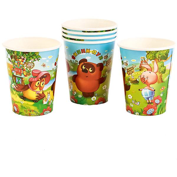 Набор из 6-ти стаканчиков дизайн Винни пухСтаканы<br>Характеристики товара:<br><br>• возраст: от 3 лет;<br>• упаковка: пакет;<br>• размер упаковки: 20х12х8 см.;<br>• количество стаканов: 6 шт.;<br>• емкость стакана: 150 мл.;<br>• цвет: белый с рисунком;<br>• состав: картон;<br>• бренд, страна-производитель: Веселый праздник, Россия.<br><br>Стаканы картонные «Винни-пух» - этот детский набор из 6 стаканов с изображением мультяшных героев Винни-пуха и его друзей сделает  торжество Вашего ребенка еще интересней, увлекательней и веселей. Детям очень важна атмосфера во время праздника, в том числе и оформление.<br><br>Стаканы от российского бренда «Веселый праздник» , который производит качественные товары для детского праздника, изготовлены из безопасного прочного картона, безвредного для детского здоровья. Подходят для холодных и горячих напитков.<br><br>Стаканы картонные «Винни-пух», 150 мл., 6 шт.,  Веселый праздник можно купить в нашем интернет-магазине.<br>Ширина мм: 20; Глубина мм: 8; Высота мм: 12; Вес г: 50; Возраст от месяцев: 36; Возраст до месяцев: 168; Пол: Унисекс; Возраст: Детский; SKU: 7225702;