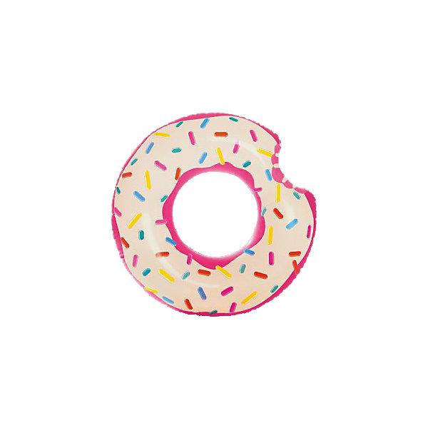 Круг для плавания Intex Пончик, 107 см, Разноцветный