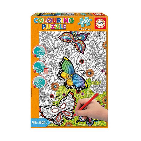 Educa Пазл-раскраска Educa Бабочки, 300 деталей