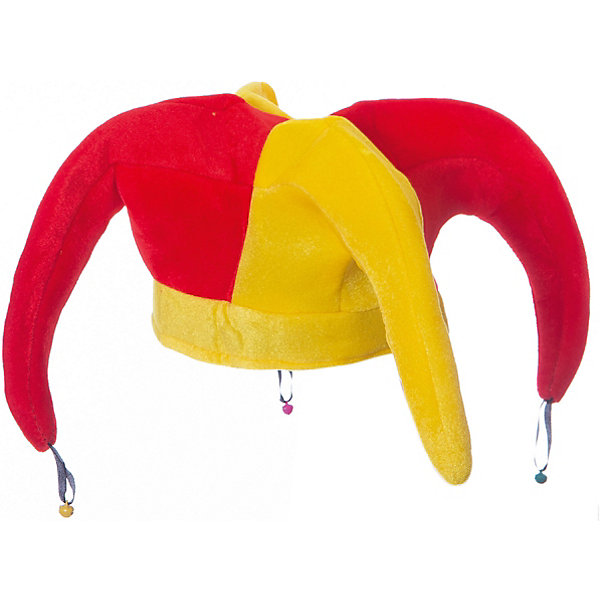 Маскарадный колпак ШутовскойДетские шляпы и колпаки<br>Колпак<br>Ширина мм: 250; Глубина мм: 300; Высота мм: 50; Вес г: 70; Возраст от месяцев: 36; Возраст до месяцев: 2147483647; Пол: Унисекс; Возраст: Детский; SKU: 7226808;