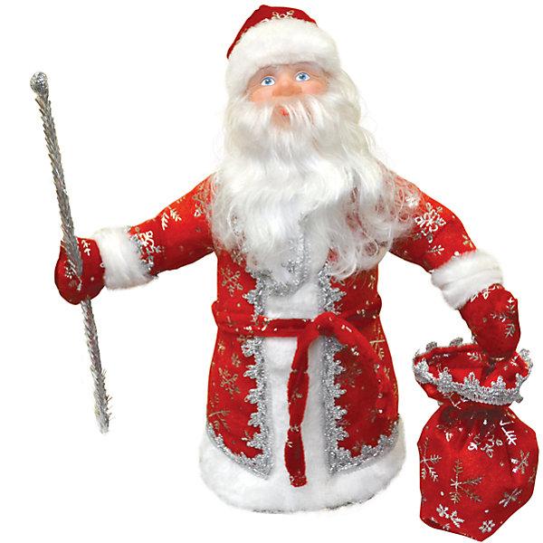 Батик Дед Мороз под елку 40 см КРАСНЫЙ в упаковке