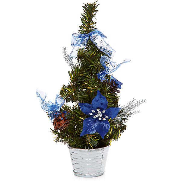 MAG2000 Ёлка украшенная 30 см, 5 цветов, в полибеге mag2000 шар 8см с этикеткой в полибэге