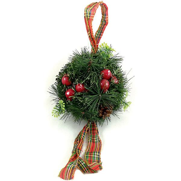 MAG2000 Новогоднее украшение - хвойный шарик с шишками , диаметр 20 см, в полибеге стикер paristic шарик 20 х 30 см