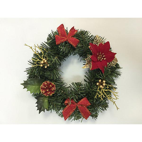 Купить Новогоднее украшение на стену-венок- 25 см, в полибеге, MAG2000, Китай, Унисекс