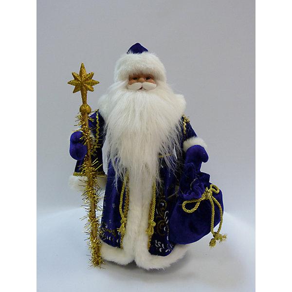 Дед Мороз в синей шубе, 40 см, в полибегеЁлочные игрушки<br>Дед Мороз в синей шубе, 40 см, в полибеге<br>Ширина мм: 155; Глубина мм: 240; Высота мм: 400; Вес г: 583; Возраст от месяцев: 36; Возраст до месяцев: 2147483647; Пол: Унисекс; Возраст: Детский; SKU: 7227806;