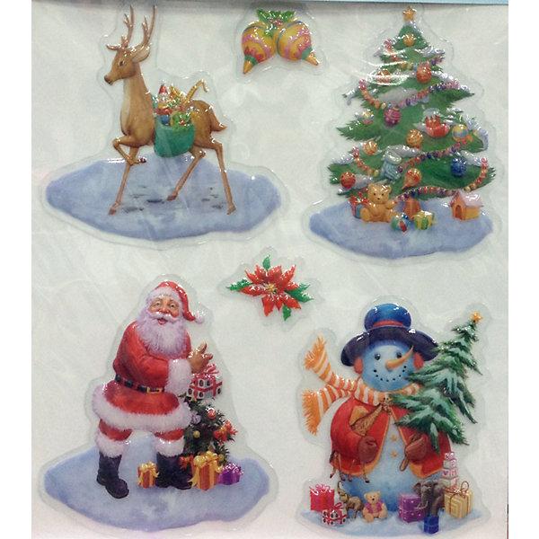 MAG2000 Лист с декоративными новогодними наклейками mag2000 шар 8см с этикеткой в полибэге
