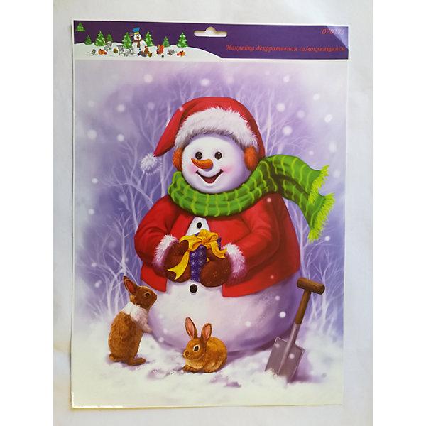 MAG2000 Лист с декоративными новогодними наклейками mag2000 дед мороз и снеговик подсвечник со свечей 8 2 x 4 5 x 7 7 см