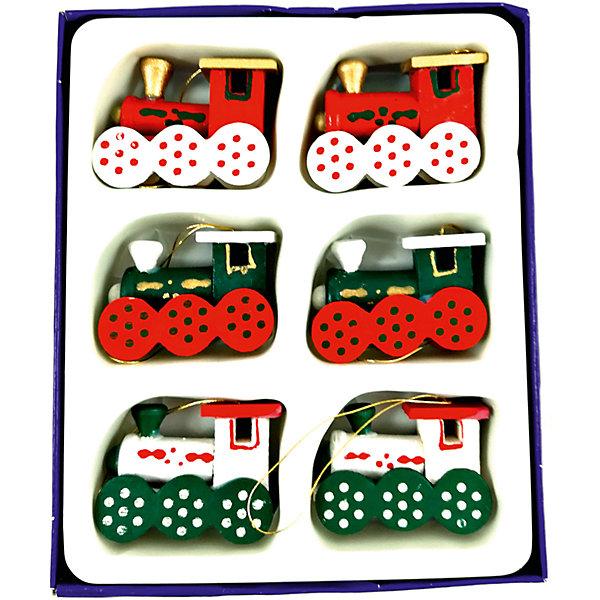 MAG2000 Набор деревянных паравозов,6 штук