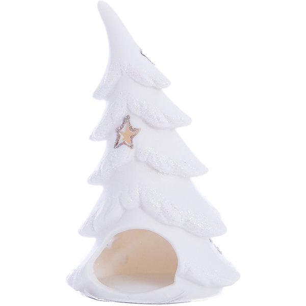 MAG2000 Ёлка белая, 15,5*10,5*6,2 см, подсвечник подсвечник ningbo контраст 12 см