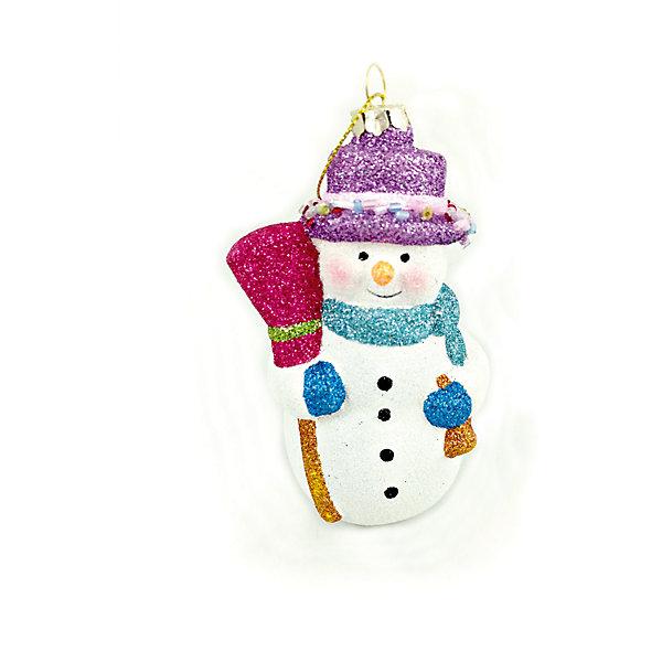 MAG2000 Снеговик, пластик mag2000 шар 8см с этикеткой в полибэге
