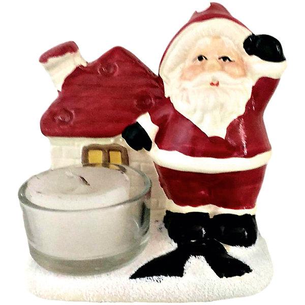 MAG2000 Дед мороз с домиком-подсвечник, 9.7 x 6.2 x 9.5 см mag2000 дед мороз и снеговик подсвечник со свечей 8 2 x 4 5 x 7 7 см