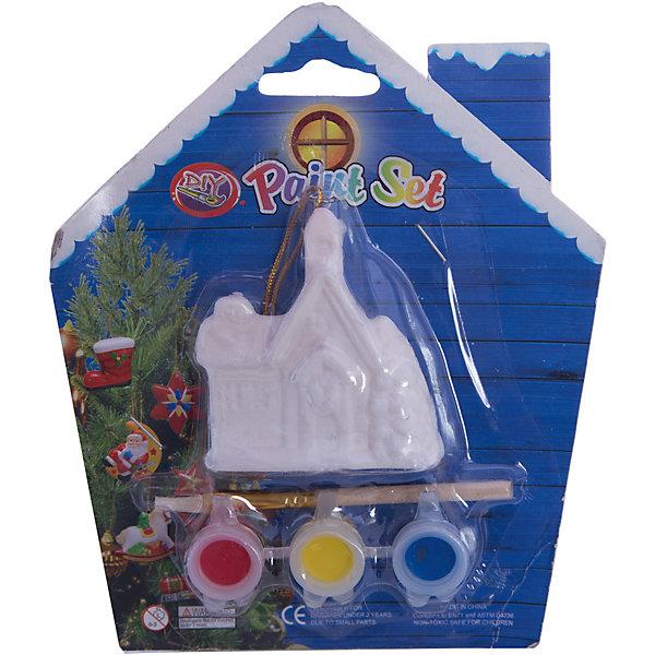 Набор для детского творчества, Домик 6x2.7x7см, 3 краски, кисточка, блистер в форме домика - 14*14 смНовогодние наборы для творчества<br>Набор для детского творчества, Домик 6x2.7x7см, 3 краски, кисточка, блистер в форме домика - 14*14 см<br>Ширина мм: 29; Глубина мм: 140; Высота мм: 140; Вес г: 68; Возраст от месяцев: 36; Возраст до месяцев: 2147483647; Пол: Унисекс; Возраст: Детский; SKU: 7227979;