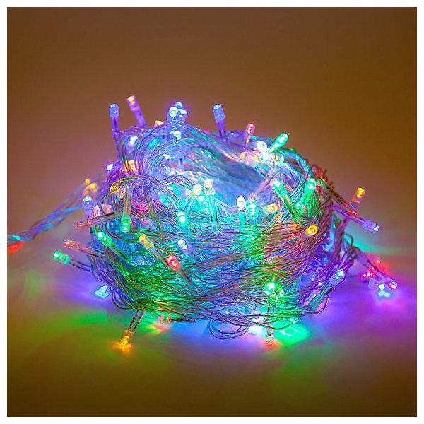 Гирлянда 140 LED, цветное свечение, прозрачный проводНовогодние электрогирлянды<br>Новогодняя гирлянда, состоящая из 140 LED-ламп, предназначена для декорирования ели и помещений. Прозрачный провод; цветное свечение.<br>Ширина мм: 140; Глубина мм: 90; Высота мм: 80; Вес г: 330; Возраст от месяцев: 36; Возраст до месяцев: 2147483647; Пол: Унисекс; Возраст: Детский; SKU: 7228382;