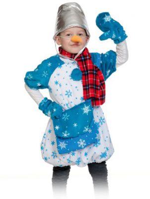 Костюм Снеговик Почтовик, рост 98-128 см, артикул:7228439 - Детские карнавальные костюмы и аксессуары