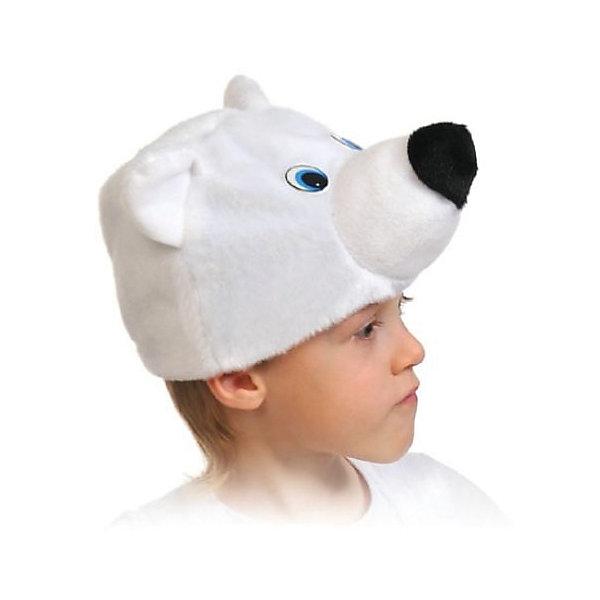 Маска Мишка ПолярныйДетские шляпы и колпаки<br>Забавная шапочка с медвежьей мордочкой подойдет для театрализованных и праздничных мероприятий. Такой аксессуар будет полезен для детских спектаклей, новогодних елок, утренников и не оставит публику равнодушной.<br>Ширина мм: 200; Глубина мм: 30; Высота мм: 260; Вес г: 70; Возраст от месяцев: 36; Возраст до месяцев: 144; Пол: Унисекс; Возраст: Детский; SKU: 7228445;