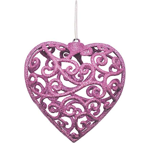 Объемное украшение на елку B&amp;H Сердце 10 см, нежно-розовоеЁлочные игрушки<br>Характеристики товара:<br><br>• возраст: от 3 лет;<br>• упаковка: пакет;<br>• вес: 23 гр.;<br>• количество: 1 шт.;<br>• цвет:нежно-розовый;<br>• высота: 10 см.;<br>• форма: объемная, сердце;<br>• материал: пластик;<br>• бренд, страна бренда: B&amp;H;<br>• страна-производитель: Китай.<br><br>Подвеска объемная «Сердце» от торговой марки B&amp;H - оригинальное елочное украшение поможет нарядить и сделать сказочно красивой новогоднюю елку или декор вашего дома. <br><br>Подвеска объемная «Сердце» выполнена из пластика высокого качества, в форме объемной звезды с узорами нежно-розового цвета и покрытием из декоративных блесток. С помощью специальной петельки украшение можно повесить  на праздничную новогоднюю елку.<br><br>Елочная игрушка - символ Нового года и Рождества. Она несет в себе волшебство и красоту праздника. Создайте в своем доме атмосферу веселья и радости, украшая новогоднюю елку нарядными игрушками, которые будут из года в год накапливать теплоту воспоминаний. <br><br>Подвеску объемную «Сердце», нежно-розовый с глиттером, 10 см., B&amp;H можно купить в нашем интернет-магазине.<br>Ширина мм: 25; Глубина мм: 100; Высота мм: 100; Вес г: 23; Возраст от месяцев: 36; Возраст до месяцев: 2147483647; Пол: Унисекс; Возраст: Детский; SKU: 7230498;