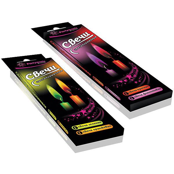 Partymania Декоративные свечи  2 шт,  цветным пламенем