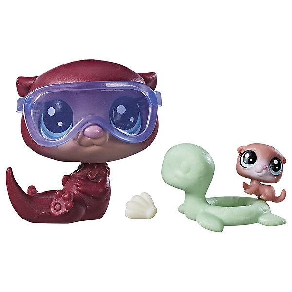 Hasbro Набор фигурок Littlest Pet Shop Парочки Выдра и выдрёнок игровой набор hasbro littlest pet shop зверюшка с волшебным механизмом 4 предмета от 4 лет а5130