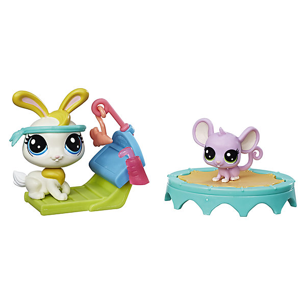 Hasbro Игровой набор Littlest Pet Shop Спортивный дуэт