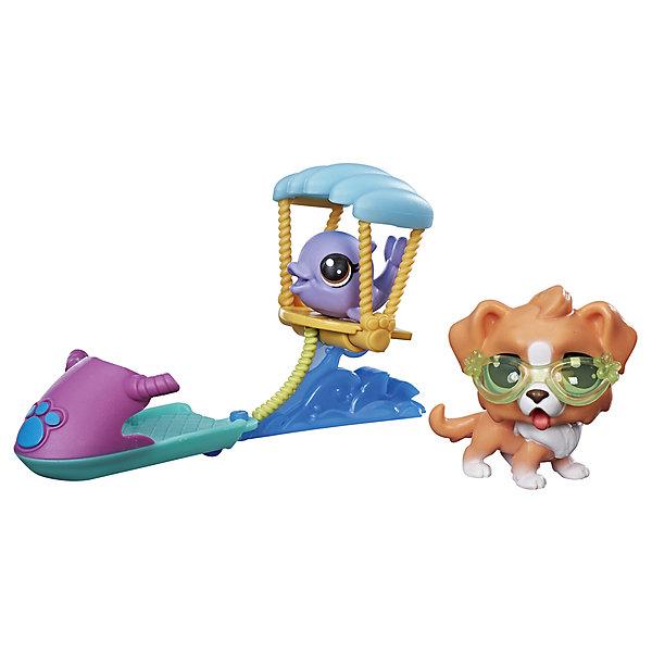 Hasbro Игровой набор Littlest Pet Shop Петы на параплане